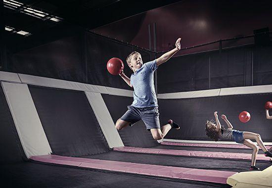 trampoline dodgeball