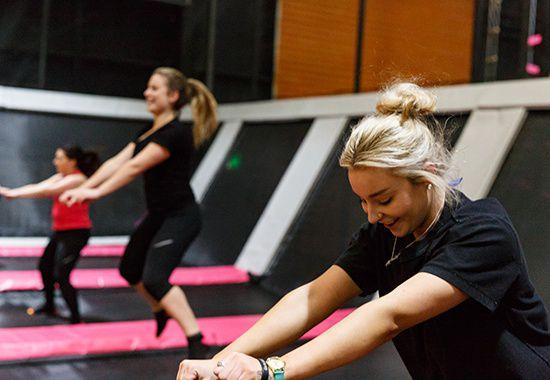 Fitatude indoor trampoline fitness